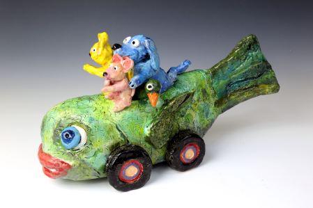 A Clay Fish Car